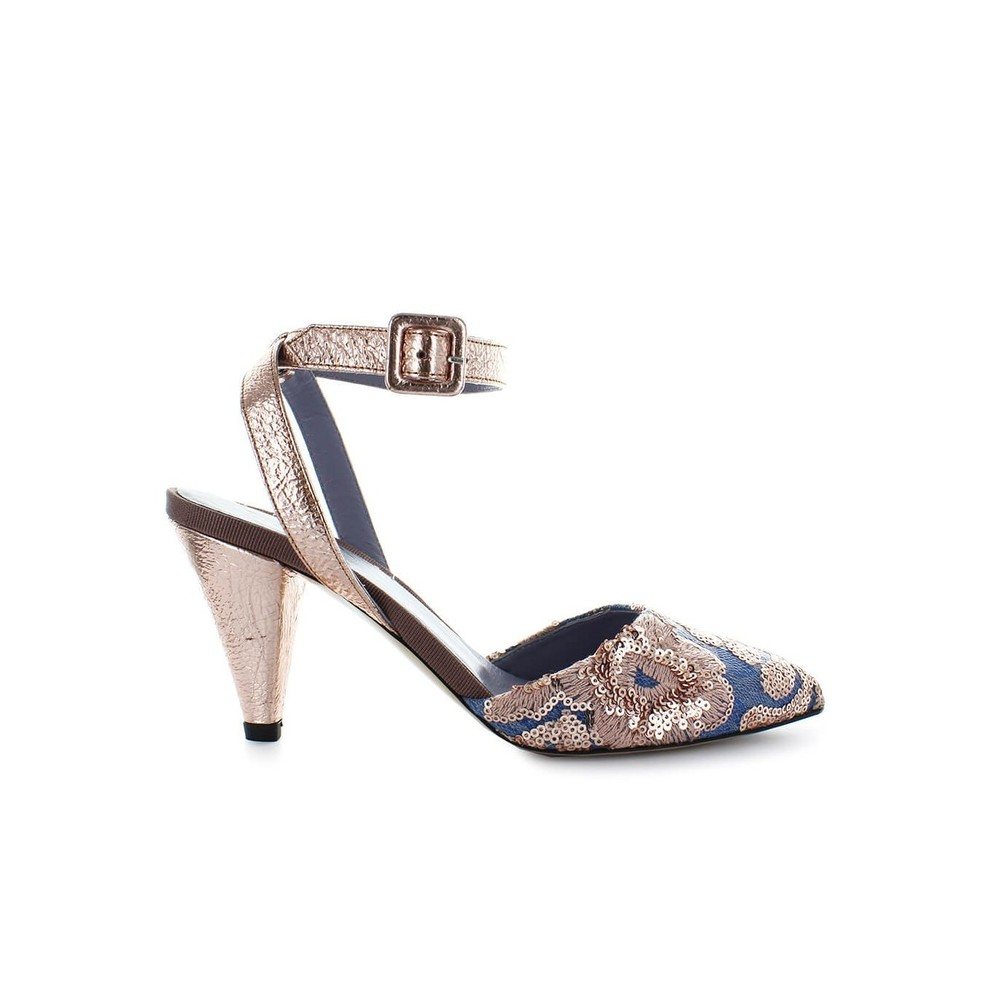 SEQUINS HEELED SANDAL