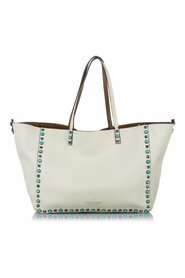 Pre-owned Rockstud Leather Tote Bag