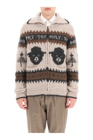 smokey bear zip-up cardigan