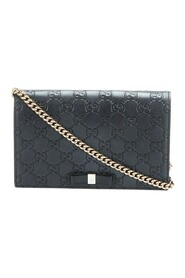 Begagnade Guccissima Bow Wallet på Chain Leather Calf