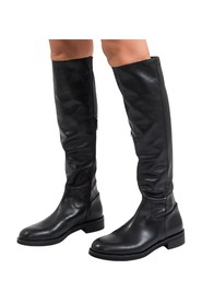 Stretch nappa leather boots