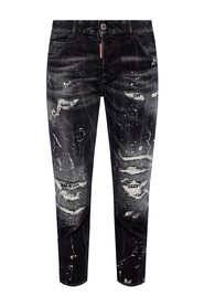 Cool Girl Cropped Jean raw-cut jeans