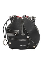 Biker Bucket Leather Crossbody Bag
