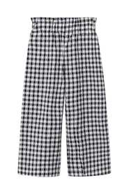 Gingham check pattern trousers
