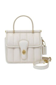 Top Handle 18 Bag in Leather