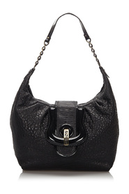 Leather B Shoulder Bag