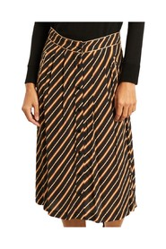 Johana striped midi skirt