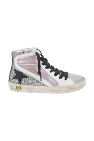 SNEAKERS SLIDE LAMINATED AND GLITTER