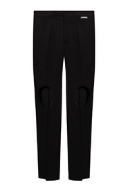 Trousers with cut-outs