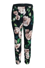 Floral Pants with Elastic Band
