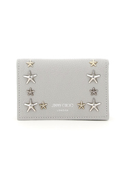 nello card holder with flap and star studs