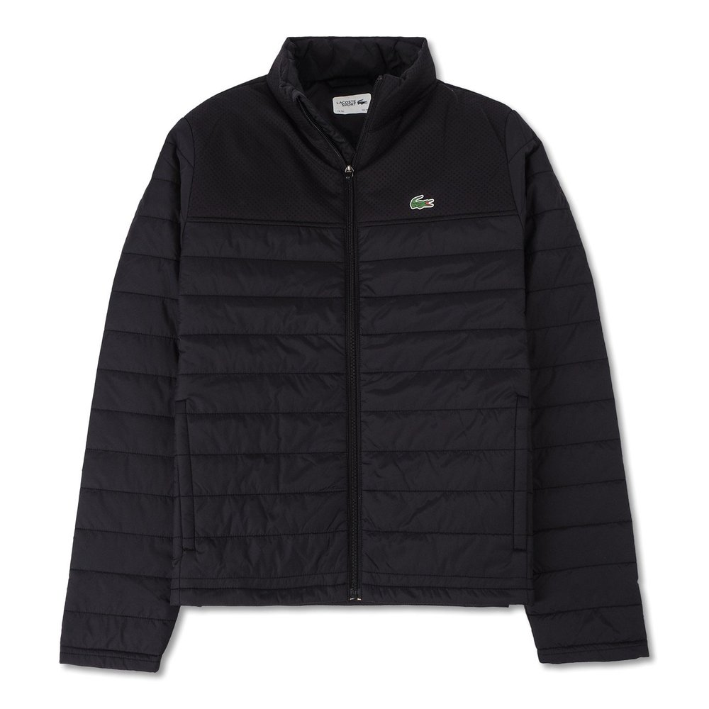 Sport Tennis Mesh Pannel Zipperd Quilted Jacket