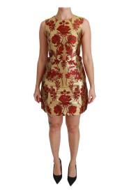 Lurex Jacquard Midi Slim Dress