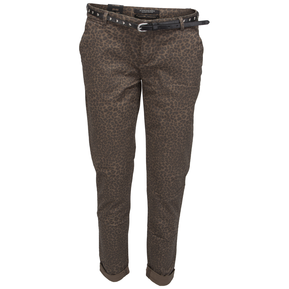 Scotch & Soda chinos mönstrade bruna