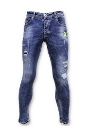 Jeans with Paint Splashes - Skinny Fit Jeans