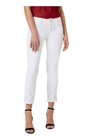 LIU JO IDEAL FA0203 T4033 PANTS Women Bianco Ottico