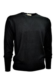 MEN'S CREW NECK SWEATER Wool and Silk