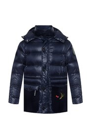 Quilted jacket with appliqués