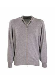 Zip-front Cardigan Cashmere with zipper