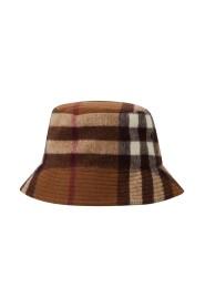 Check Wool Bucket Hat