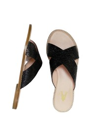 Infinity cracked leather sandals