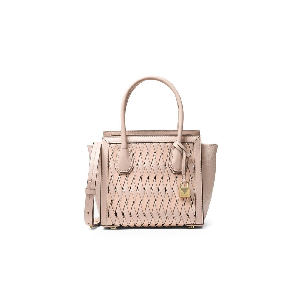 MERCER STUDIO WOVEN LEATHER HANDBAG