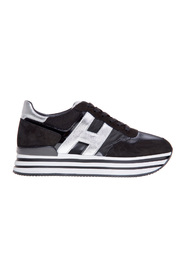 New h222 sneaker in nabuck and shiny fabric