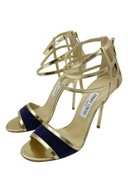 open toe cage heeled sandals