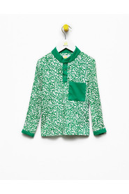 Bluzka Polo Green Leaves