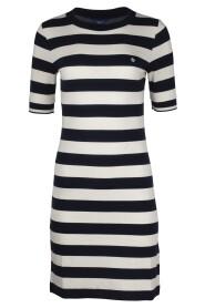 Bar Striped Jersey Dress