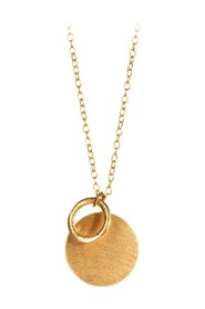 Coin and circle  necklace