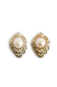 Kolczyki z perłami i kryształami