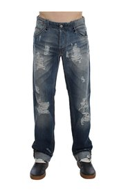 Wash Torn Cotton Stretch Regular Fit Jeans