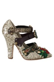 Sequined Crystal Studs Heels