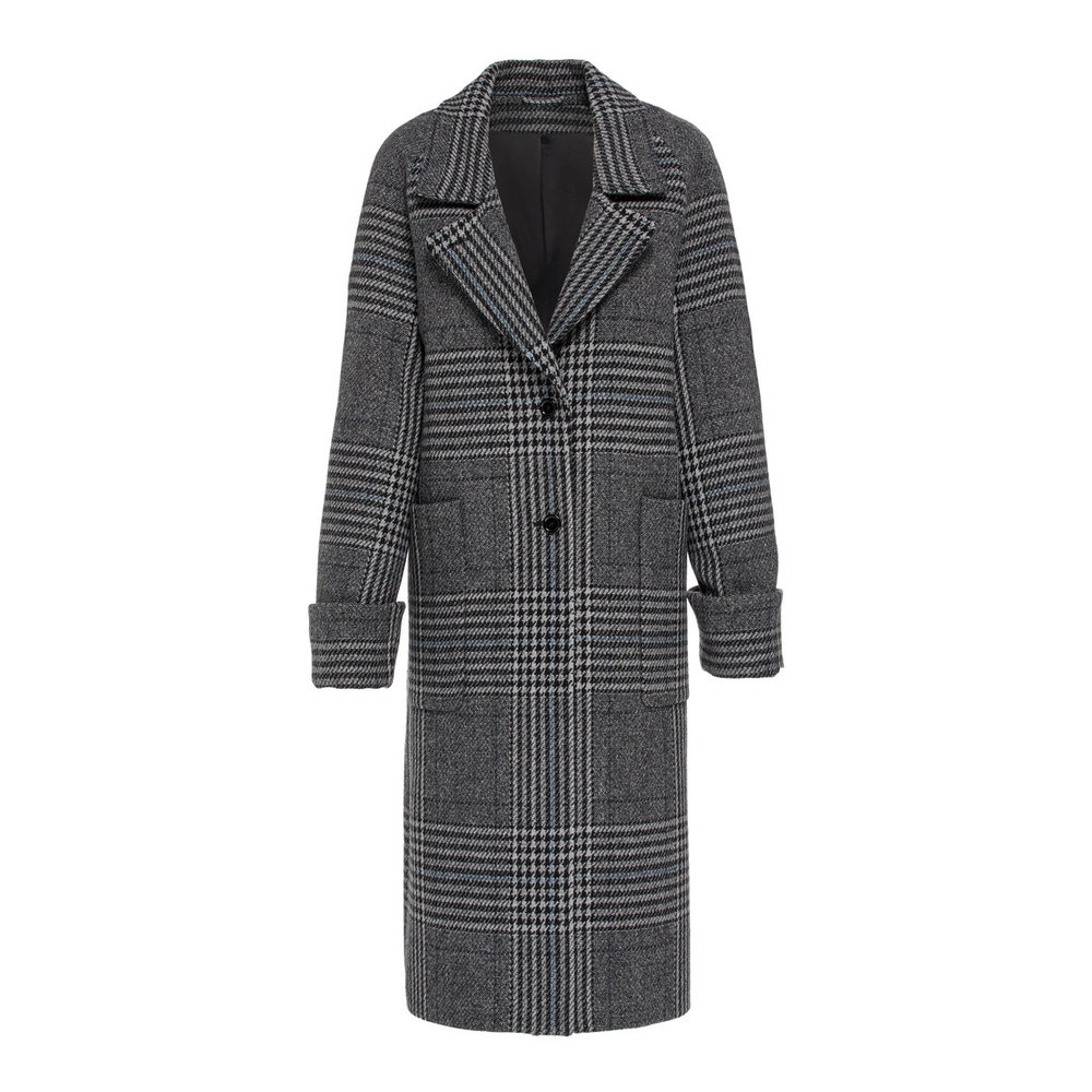 Coat Kahlo Wool Plaid