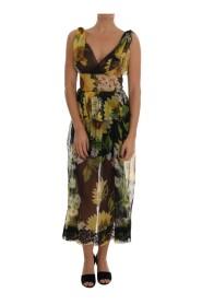 Sunflower Floral Lace Dress