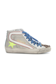 SLIDE CLASSIC SNEAKERS SUEDE UPPER LEATHER STAR LEO HORSY TOE