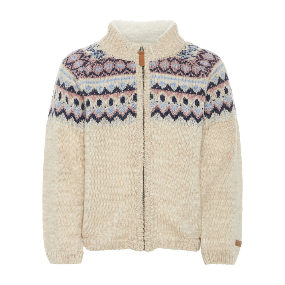 Cardigan wool knitted