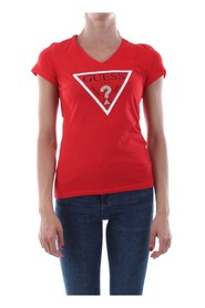 GUESS W93I56 JA900 T SHIRT AND TANK Women Rosso