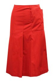 Waterproof Twill Jasper Red Skirt