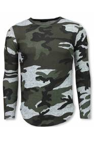 Leger Print Borduur Long Sleeve T-shirt