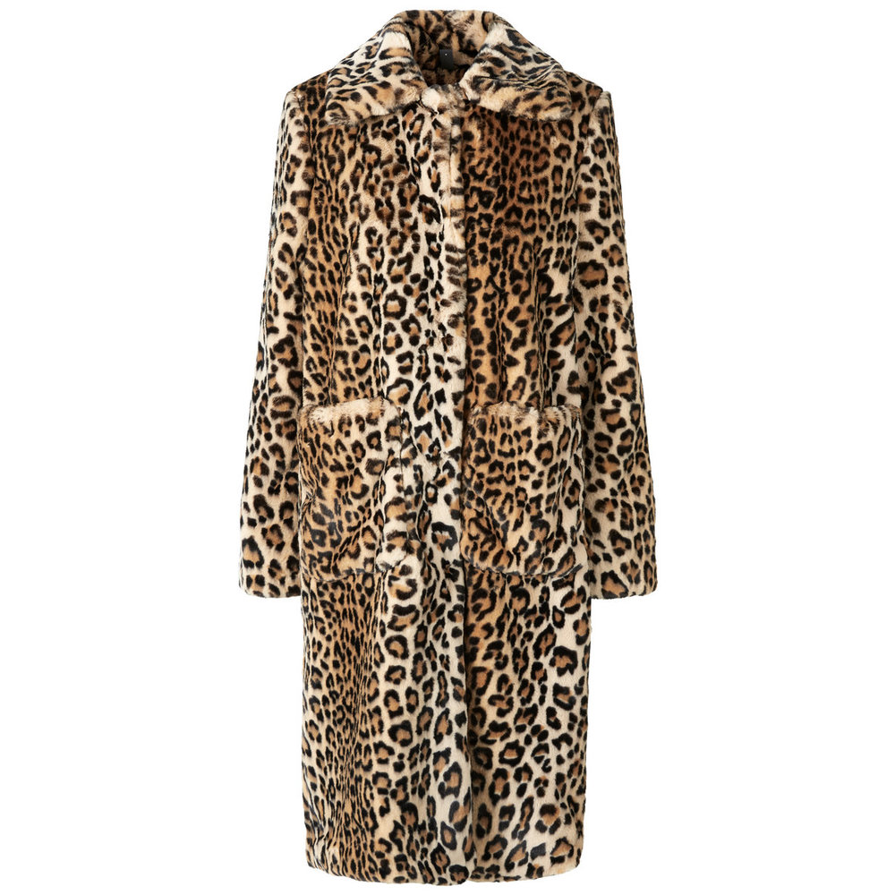 Coat Faux fur leopard