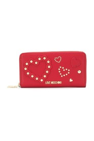 Studded hearts continental wallet