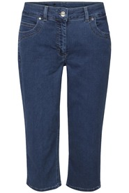 Dark blue denim Laurie 27443 capribukser