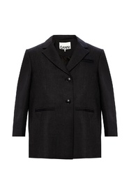 Wool-trimmed blazer