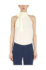 TOP WITH HIGH NECK AND BOW