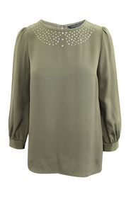 Silk Blouse with Crystals at front