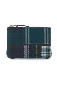 Tartan patchwork wool wallet