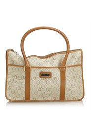 Honeycomb Coated Canvas Handbag