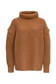 Jumper with Funnel Neck and Dropped Shoulders